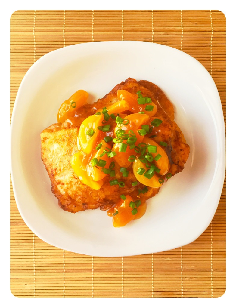 Buttermilk Pan-fried Salmon with Apricot Sauce
