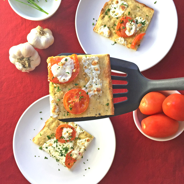 Tomato and Mozzarella Flatbread