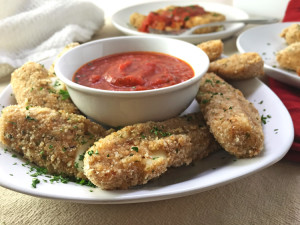 Baked Mozzarella Cheese Sticks