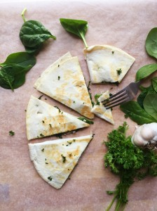 Healthy Spinach and Brie Skillet Quesadilla, Under 250 Calories