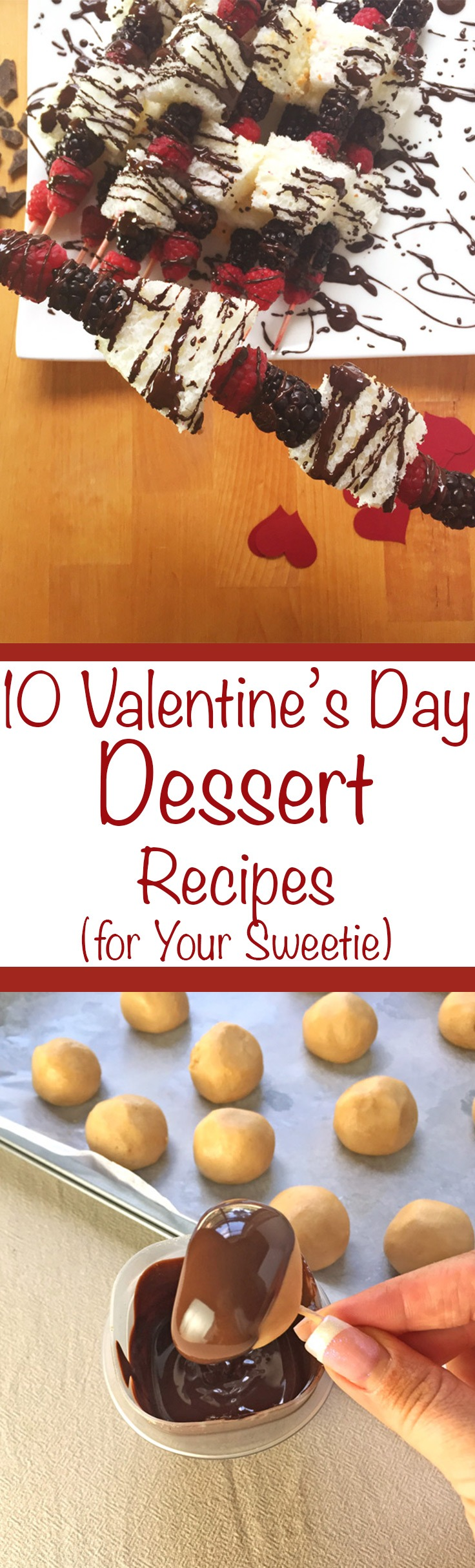 10 Valentine's Day Dessert Recipes to Impress Your Sweetie. In our household, we celebrate Valentine's Day not with jewelry, flowers or cards but with chocolate, dessert and other Valentine's Day Recipes! Click through for a list of 10 Valentine's Day Dessert Recipes you can make for your sweetheart! | SeasonlyCreations.com | @SeasonlyBlog