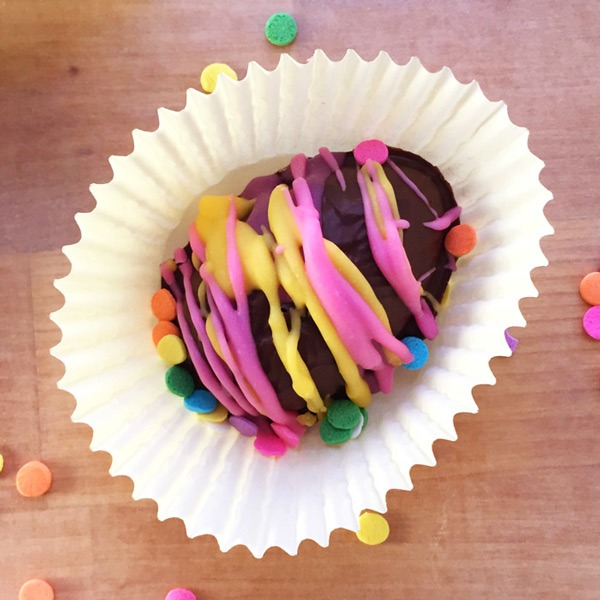Colorful Chocolate Covered Peanut Butter Eggs (a no bake recipe!)