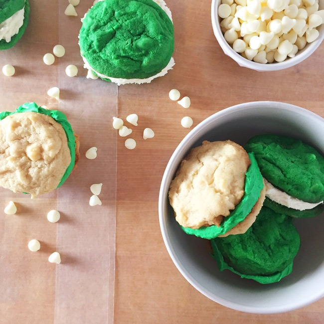 St. Patrick's Day Sandwich Cookies (with Buttercream)