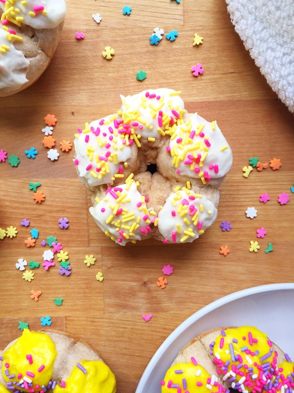 How to Make Flower Shaped Baked Donuts (step-by-step recipe!)