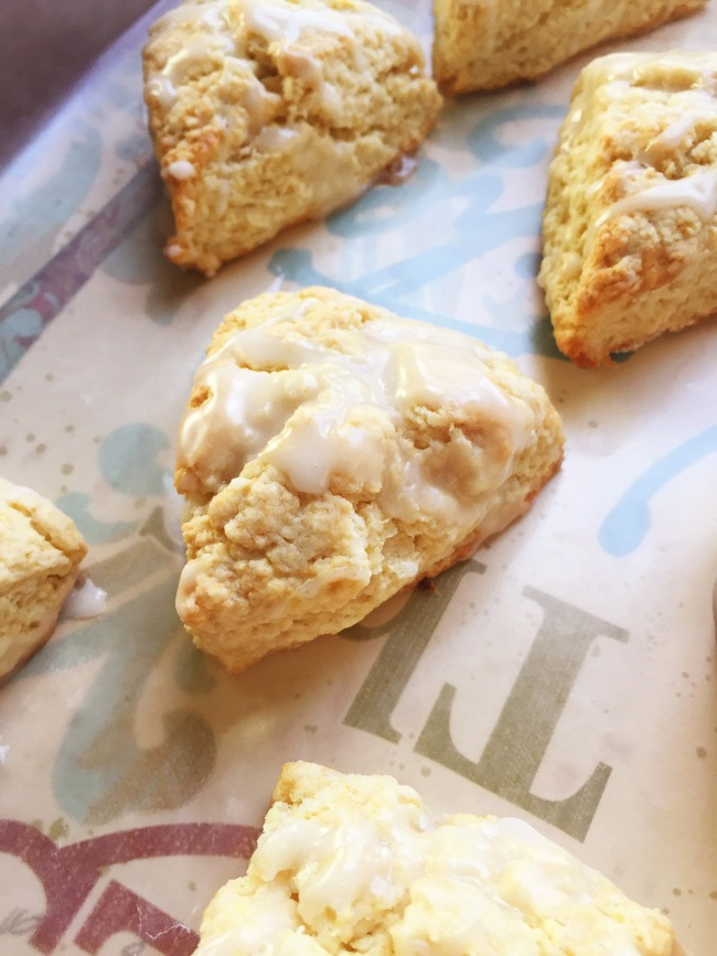Lemon Almond Scones with Lemon Icing