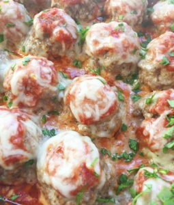 Easy Cheesy Baked Meatballs