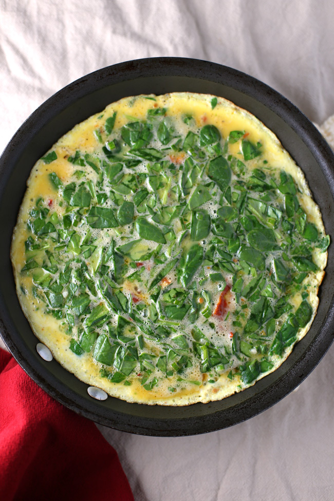 healthy spinach frittata