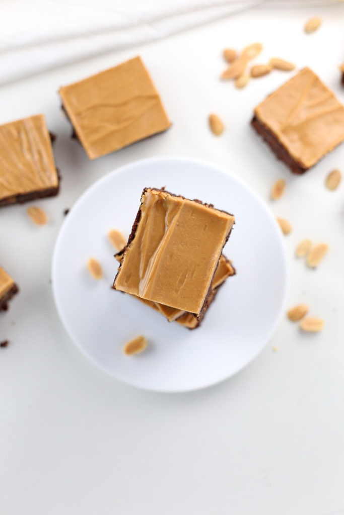 Low Carb Chocolate Peanut Butter Brownies {Gluten-Free, Keto-Friendly}