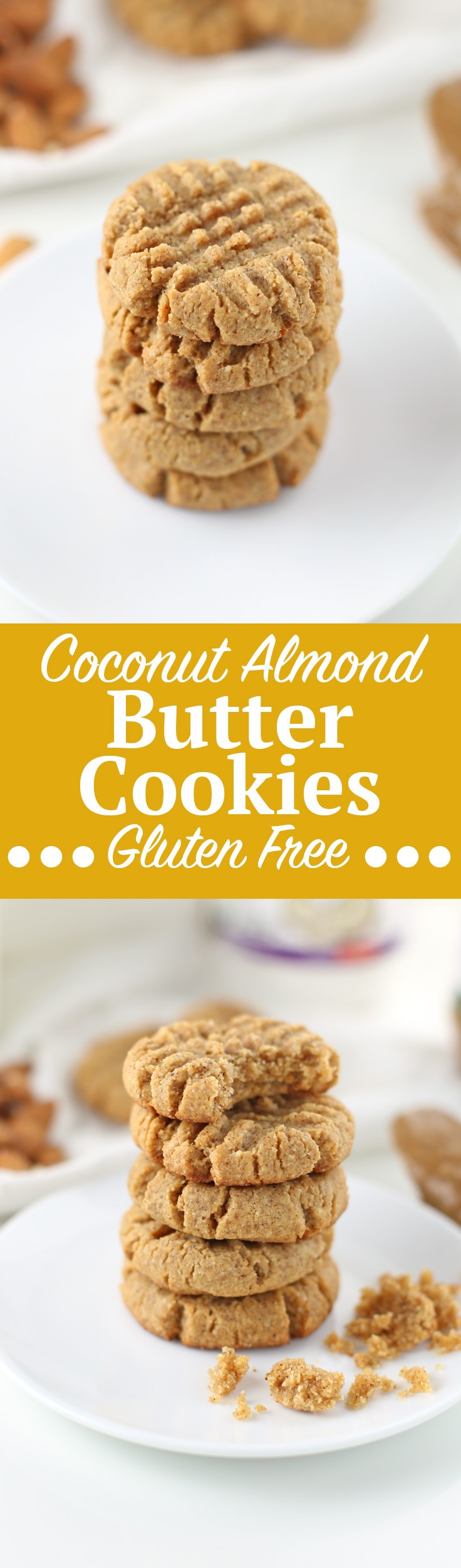Gluten-Free Coconut Almond Butter Cookies {Low Sugar}. Chewy, coconut almond butter cookie recipe made with ingredients from ShopRite's Wholesome Pantry line! This is a gluten-free, low sugar cookie recipe you can enjoy in less than an hour! Only 1.3g sugar per cookie. Get the full recipe and ingredient list by clicking through! #sponsored #ShopRite #WholesomePantry