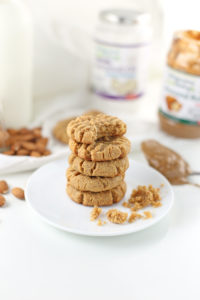 Gluten-Free Coconut Almond Butter Cookies {Low Sugar}