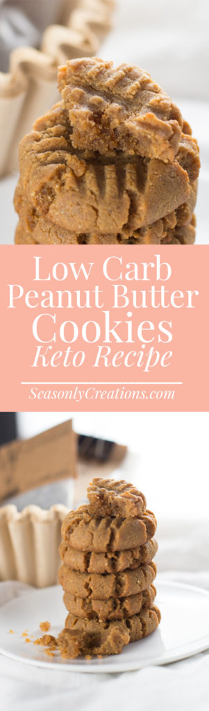This keto peanut butter cookie recipe is simple, has only four ingredients and they're completely flourless. Enjoy each cookie with only 2.8g net carbs! This is a keto-friendly, low-sugar and gluten-free recipe.